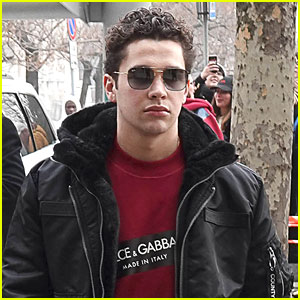 Austin Mahone Steps Out After Walking In First Fashion Show