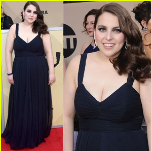 Beanie Feldstein Explains Why She Wore Her Prom Dress to the SAG Awards