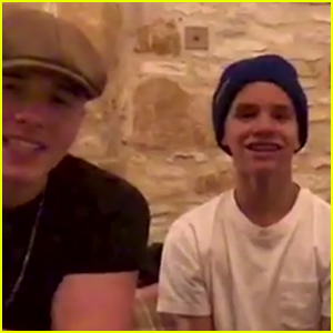 Brooklyn & Romeo Beckham Are So Proud of Their Dad David Beckham - Watch the Cute Vid!