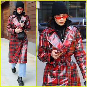 Bella Hadid Goes For Plaid While Out in NYC