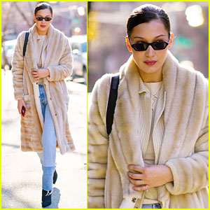 Bella Hadid Bundles Up for Brunch - See the Pics!