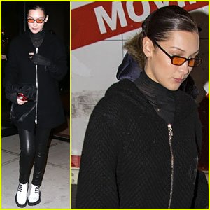 Bella Hadid Brightens Up Her Dark Outfit With a Fun Accessory