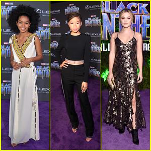 Yara Shahidi, Storm Reid & Olivia Holt Walk the Carpet at the 'Black Panther' Premiere!