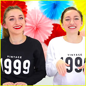 Brooklyn & Bailey Try 90s Products For 18th Birthday - Watch!