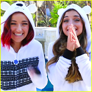 Brooklyn & Bailey Do Annual Polar Plunge In Polar Bear Onesies