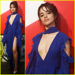 Camila Cabello is a Beauty in Blue at YouTube Event in NYC