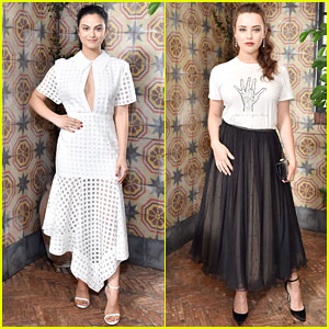 Camila Mendes & Katherine Langford Are Black & White Beauties at 'W' Mag's 'It Girls' Luncheon!