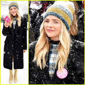 Chloe Moretz Braves the Snow for Women's Rally at Sundance!