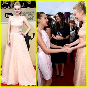 Dakota Fanning Meets Fellow Young Star Millie Bobby Brown at SAG Awards 2018!