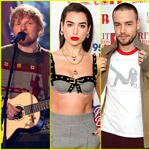 Ed Sheeran, Dua Lipa, & Liam Payne Land Brit Awards 2018 Nominations
