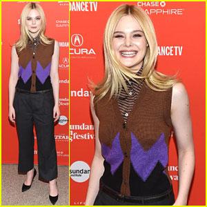 Elle Fanning Shows Off Smile At Sundance Film Festival