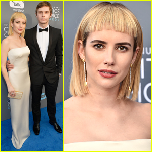 Emma Roberts Shows Off New Bangs at Critics Choice Awards 2018!