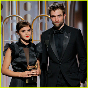 Emma Watson Reunites with Robert Pattinson at Golden Globes 2018!