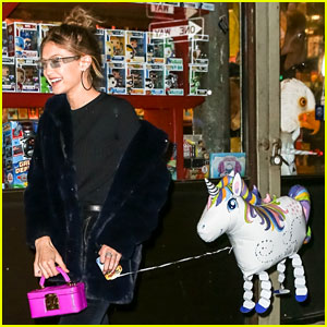 Gigi Hadid Walking Her Unicorn Balloon Down the Street is Our New Favorite Thing Ever