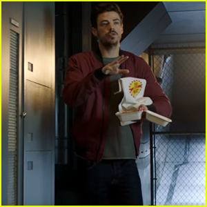 Grant Gustin's Barry Allen Hilariously Shows Up With Arms Full of Big Belly Burger in The CW's 'Suit Up' Promo - Watch!