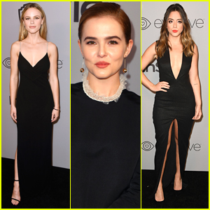 Halston Sage, Zoey Deutch, & Chloe Bennet Go Glam for Instyle's After Golden Globes 2018 Party!