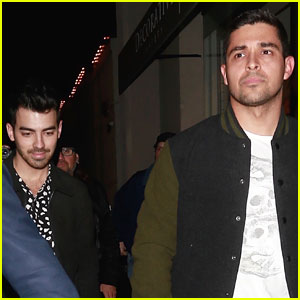 Demi Lovato's Exes Joe Jonas & Wilmer Valderrama Step Out for Dinner