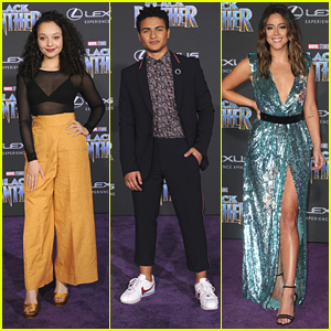 Kayla Maisonet, Nathaniel Potvin, Chloe Bennet & More Step Out for 'Black Panther' Premiere in Hollywood