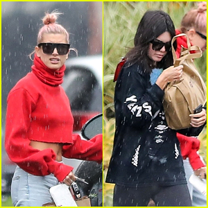 Kendall Jenner & Hailey Baldwin Get Caught in the Rain Together!