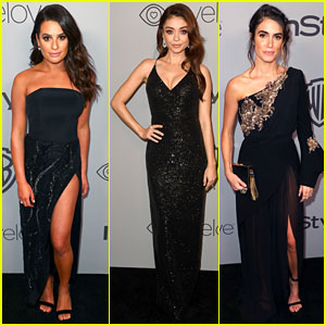 Lea Michele, Sarah Hyland, & Nikki Reed Go Glam at Golden Globes 2018 After-Party