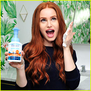 Madelaine Petsch Gets Soapy While Filming First Biore Commercial