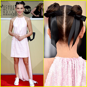 Millie Bobby Brown Dresses Down in Sneakers at SAG Awards 2018!
