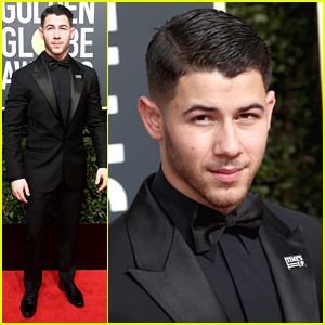 Nick Jonas Gets Sharp For Golden Globes 2018 in All-Black Suit