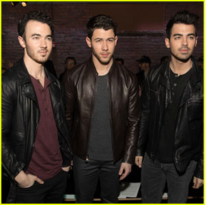 Nick Jonas Gets Support From Joe & Kevin at 'John Varvatos' Event