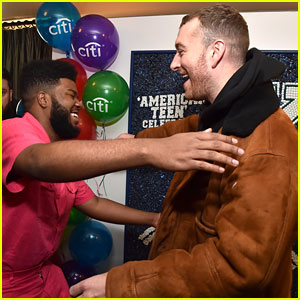 Sam Smith & Khalid Share a Hug at 'American Teen' Event