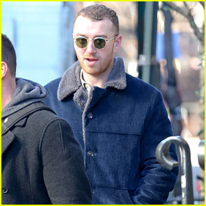 Sam Smith Enjoys a Walk in NYC Before the Grammy Awards