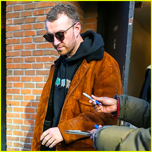 Sam Smith Steps Out After Releasing New Spotify Singles Collection