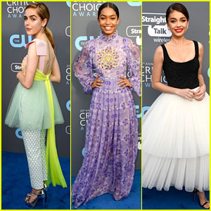 Kiernan Shipka & Yara Shahidi Get Colorful at Critics' Choice Awards 2018