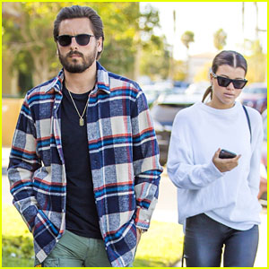 Sofia Richie Dons Black Leather Pants While Stepping Out With Scott Disick