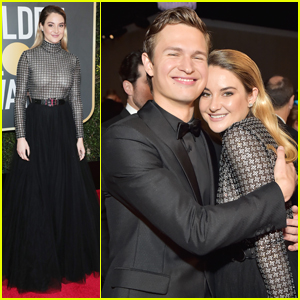 Shailene Woodley Reunites With Ansel Elgort at Golden Globes 2018