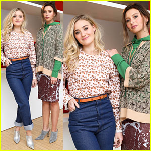 Aly & AJ Rock Fun Prints at New York Fashion Week 2018 Event