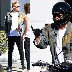 Cody Simpson Takes His Motorcycle for a Spin Around LA