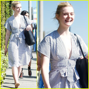 Elle Fanning Looks Ready For Spring During LA Shopping Trip