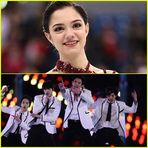 Figure Skater Evgenia Medvedeva Finally Meets EXO at The Olympics 2018