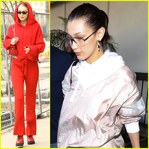 Bella & Gigi Hadid Relax After Busy New York Fashion Week