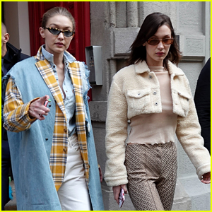 Gigi & Bella Hadid Kick Off Milan Fashion Week In Alberta Ferretti Fashion Show