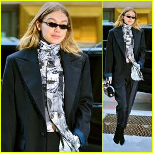 Gigi Hadid Flashes a Smile While Heading to a Fitting!