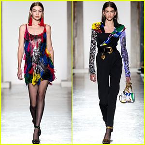 Gigi Hadid & Kaia Gerber Walk in Versace's Milan Show