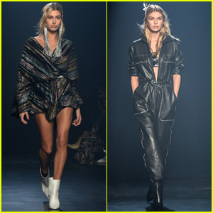 Hailey Baldwin & Stella Maxwell Go Glam for NYFW Show!
