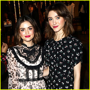 Lucy Hale & Natalia Dyer Strike a Pose at New York Fashion Week Event!