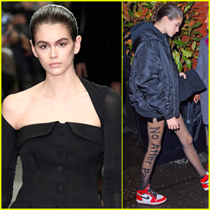 Kaia Gerber Rocks 'No After Party' Tights During NYFW!