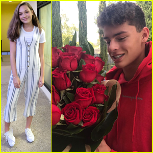 Maddie Ziegler Sent Roses To Boyfriend Jack Kelly in Australia For Valentine's Day!