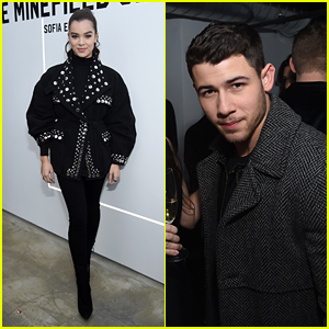 Hailee Steinfeld & Nick Jonas Show Their Support at the Launch of 'The Minefield Girl'!