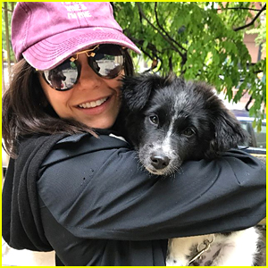 Nina Dobrev Spends Valentine's Day With Birthday Puppy Maverick