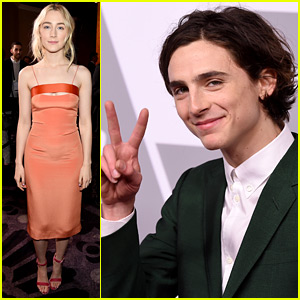 Saoirse Ronan & Timothee Chalamet Step Out at Oscar Noms Luncheon!
