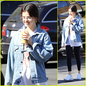 Selena Gomez Rocks a Selena Quintanilla Vintage Tee While on a Coffee Run!
